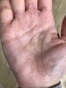 潤っている手