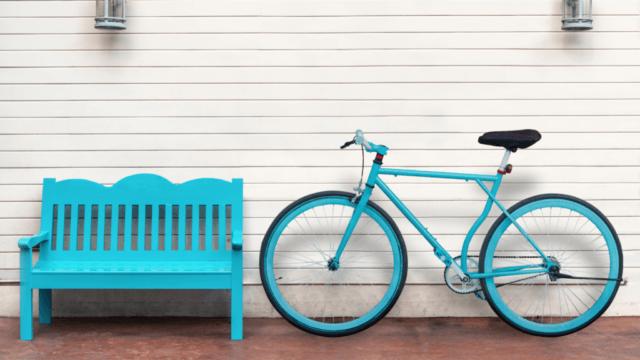 建売自転車置き場
